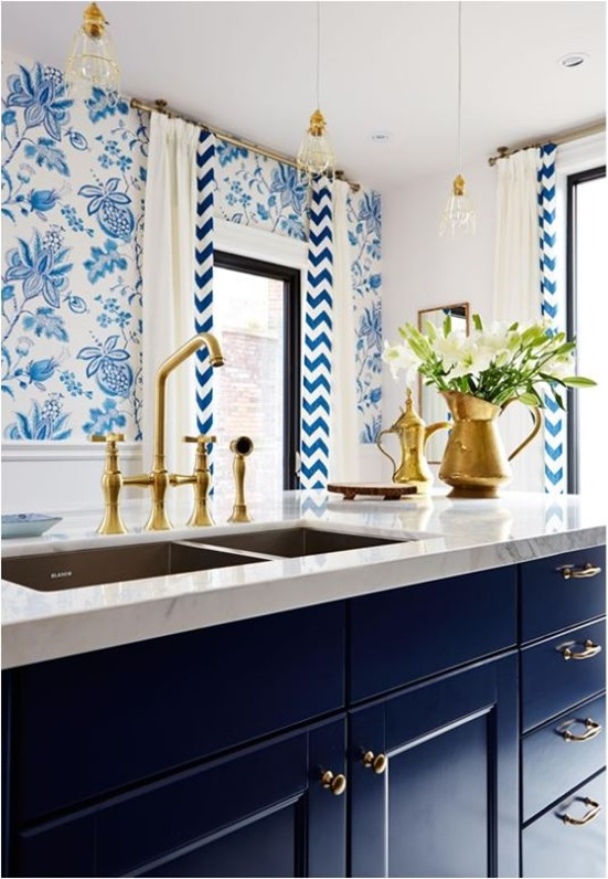blue cabinets brass hardware sarah richardson