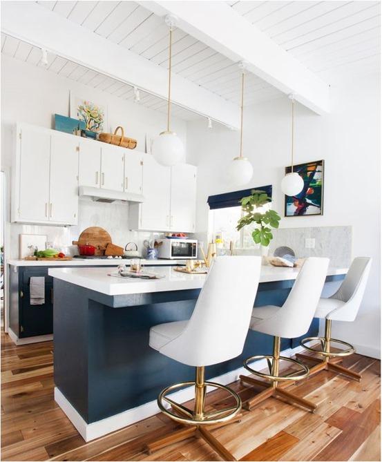 White Kitchen Hardware big comeback: brass kitchen hardware | centsational style