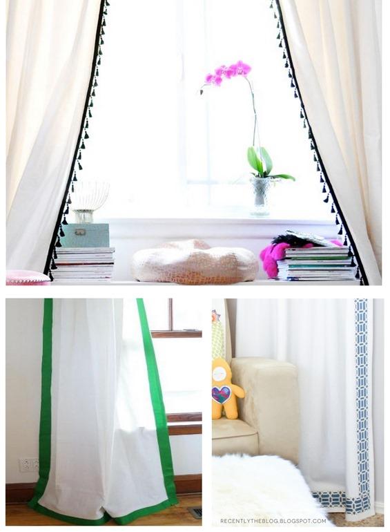 trimmed window panels
