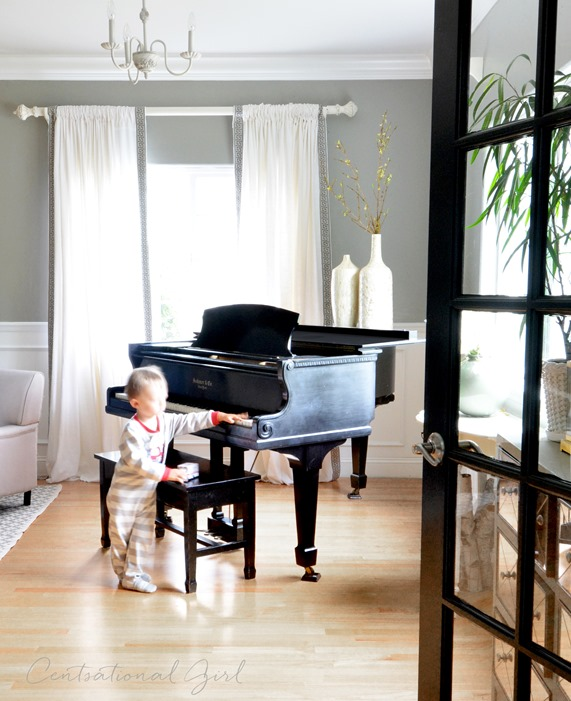 Awesome Black Baby Grand Piano Living Room Part 6