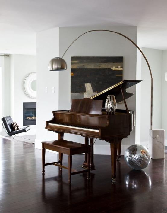 classic wood baby grand piano