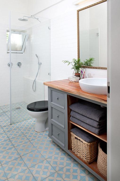 Genial Gray Vanity Wood Bathroom Countertop