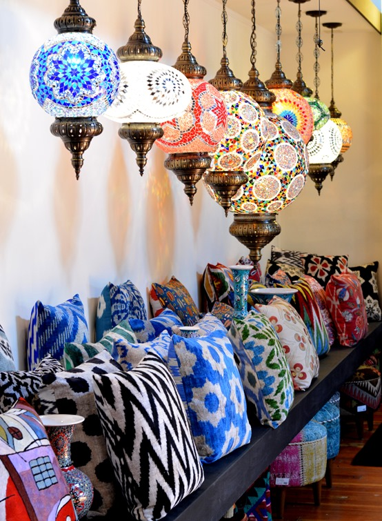 lanterns with pillows