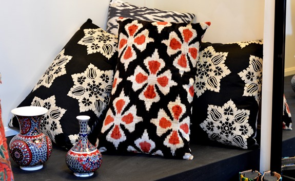 more ikat pillows