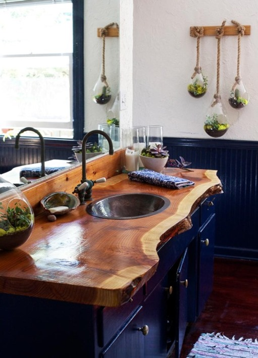 Wood Countertops In Bathrooms Centsational Style