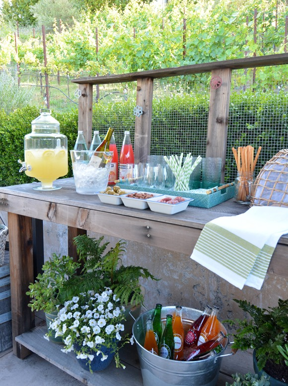 potting bench bar