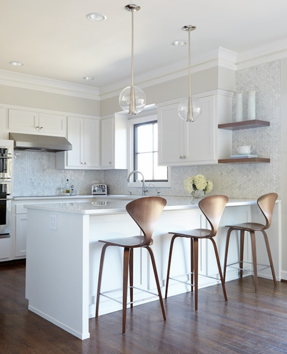 shapely wood counter stools