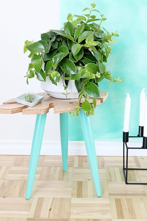 tropical leaf table diy