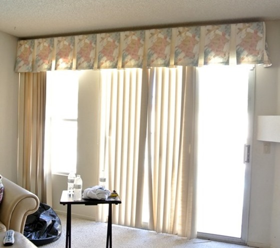 Vertical Blinds Before