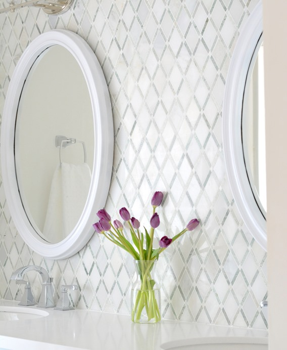 diamond pattern backsplash