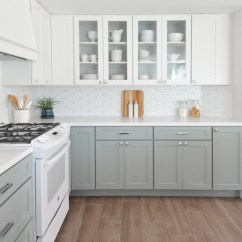 Grey Kitchen Cabinets White Oak Marilynkelvin Remodel