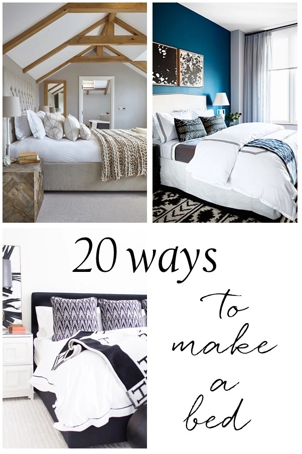 20 ways to make a bed centsational style. Black Bedroom Furniture Sets. Home Design Ideas
