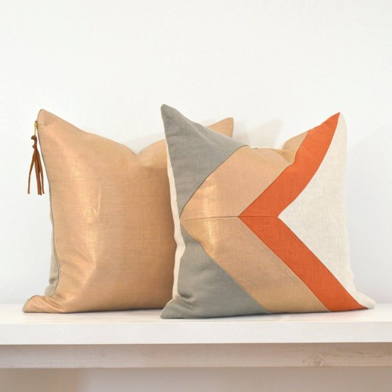 metallic pillows
