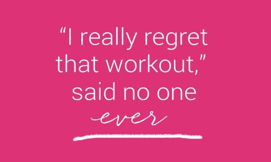 regret workout