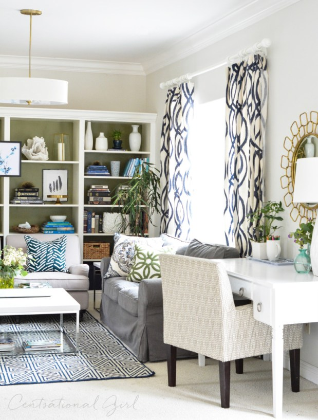 desk view living room