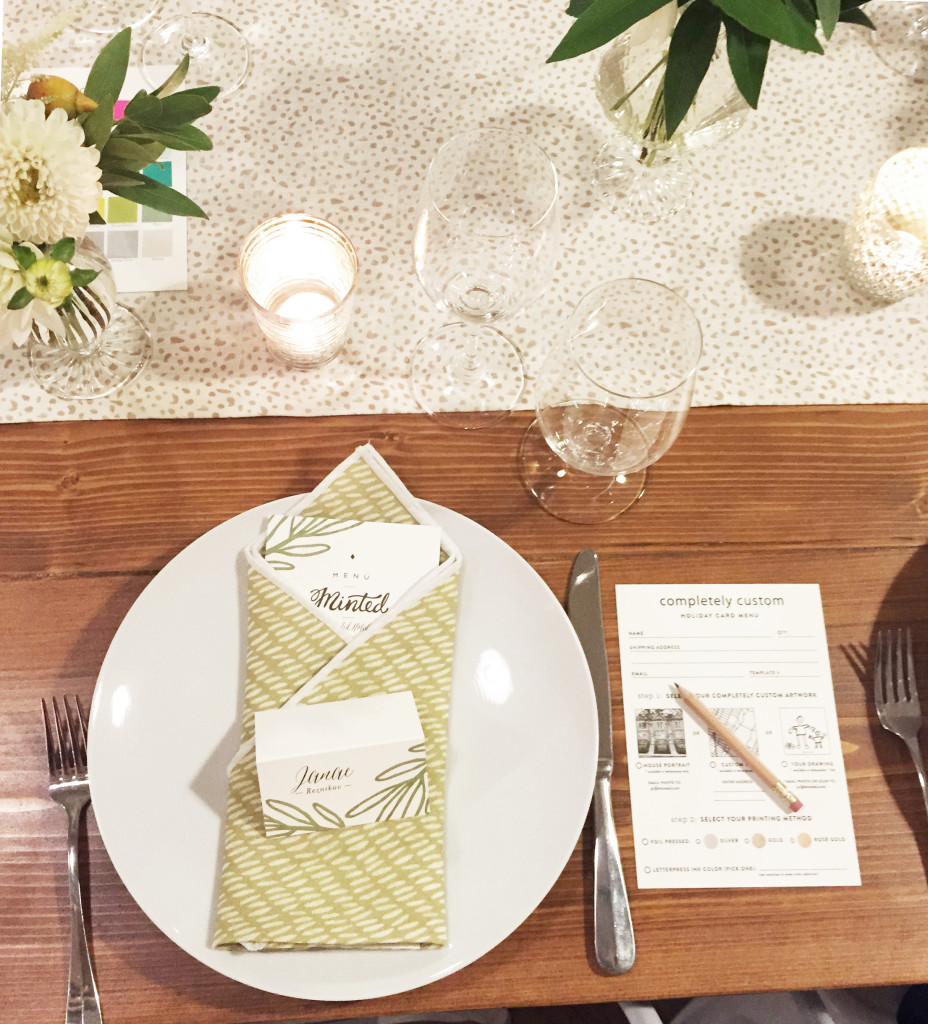 minted table