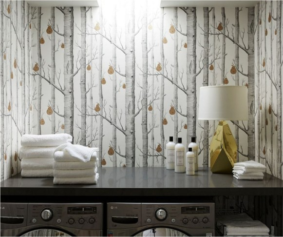 Top 10 Trending Laundry Room Ideas On Houzz: Wallpapered Laundry Rooms
