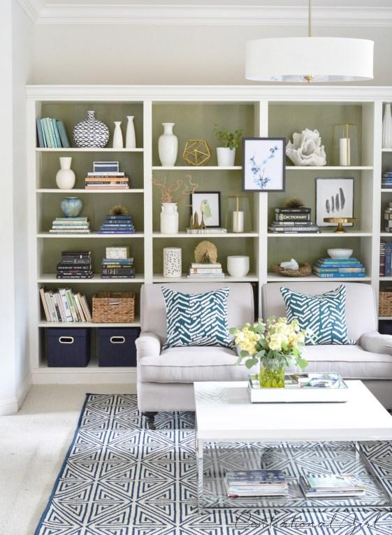 olive green studio bookshelves