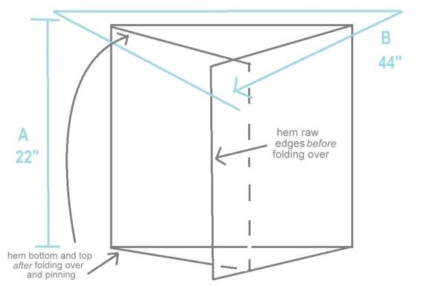 easy envelope pillow covers diagram