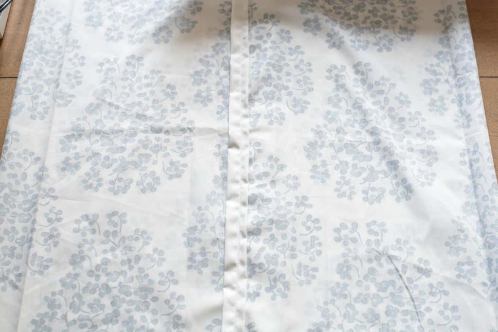 fold over fabric inside out