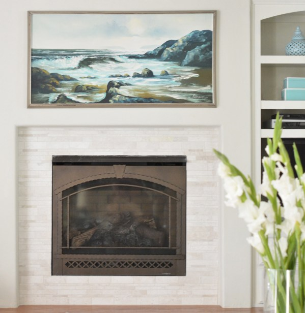 new fireplace tile seascape painting