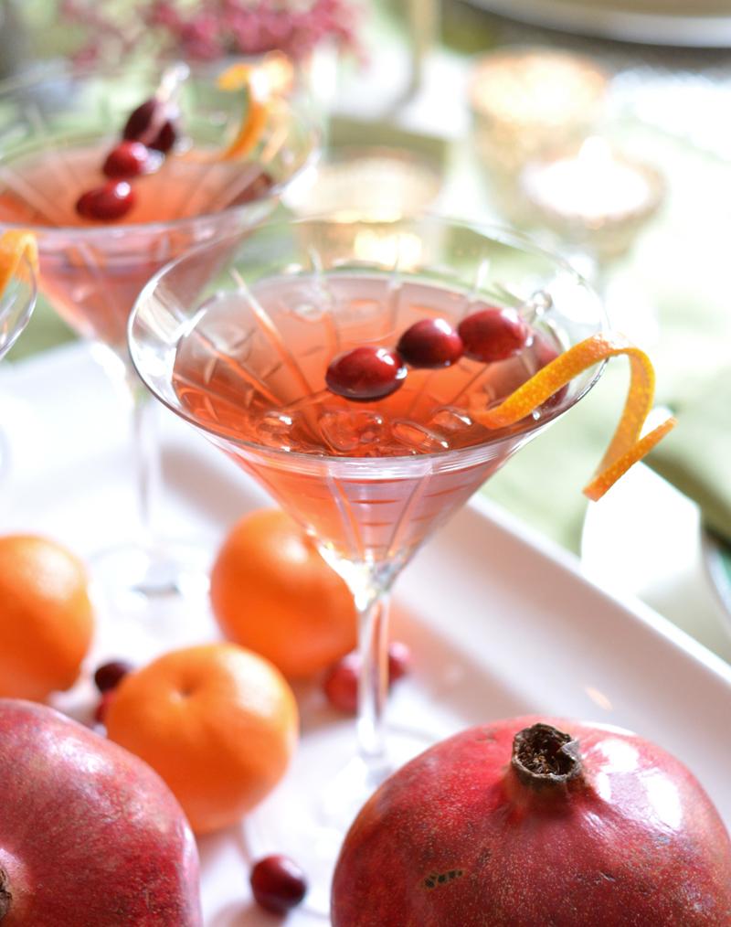 single cranberry pomegranate martini