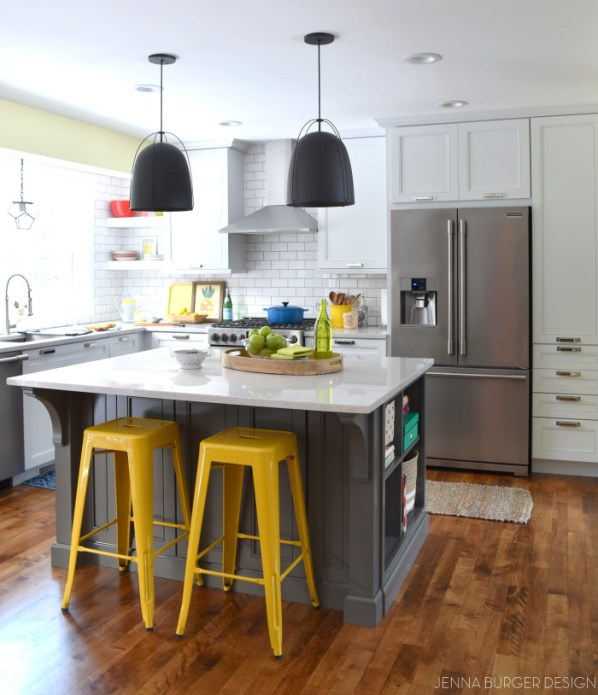 cheerful kitchen reno jenna burger