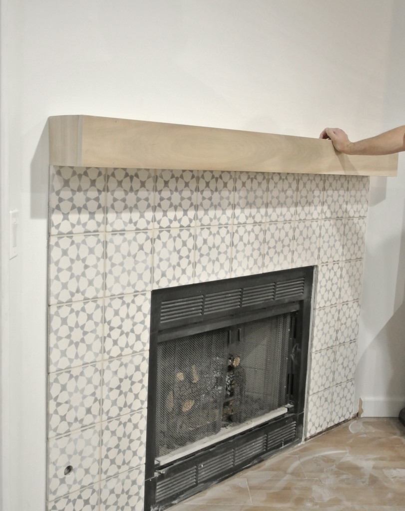 fit mantel around frame