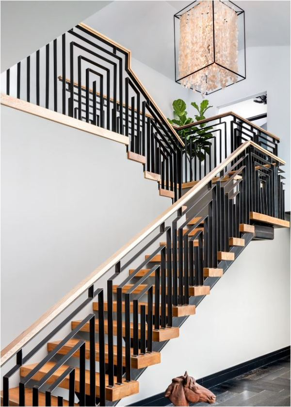geometric metal balustrade