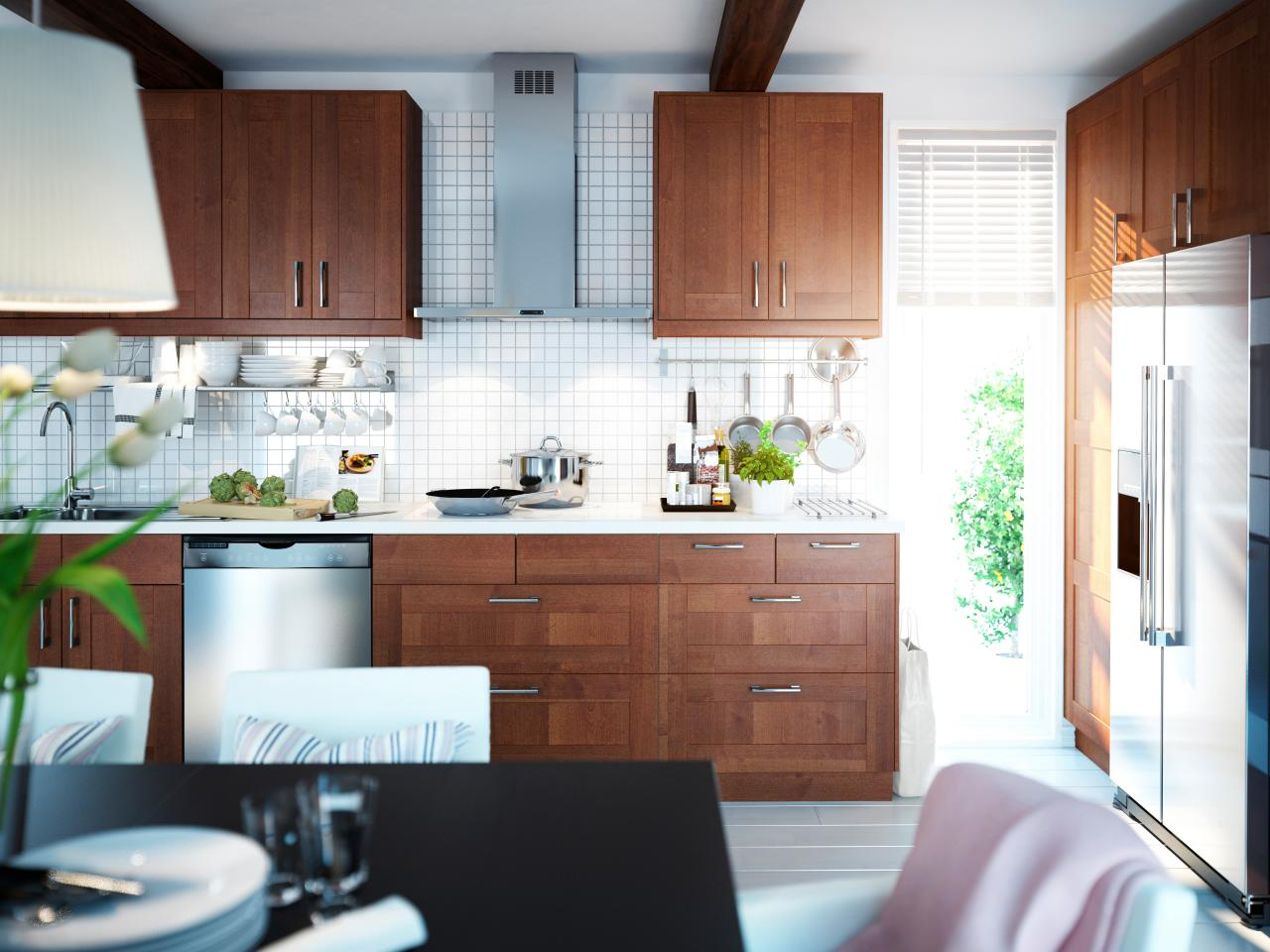 Zebra wood kitchen cabinets -  Surfaces For Contrast Backsplashes Countertops 3 Modern Hardware Or Cutout Pulls And 4 The Use Of White Cabinetry Mixed With Wood Cabinets