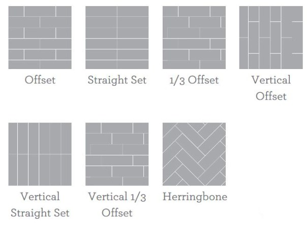 offset tile patterns