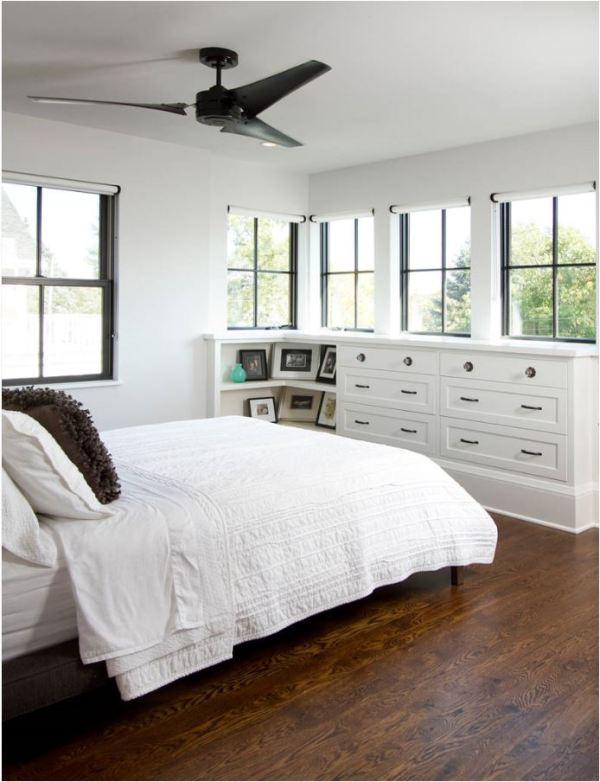 black windows and fan