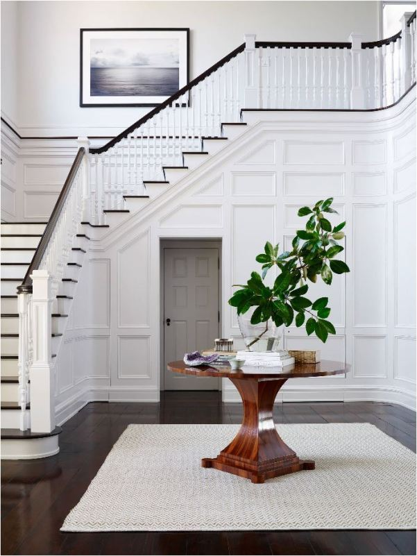 classic entry wall wainscot