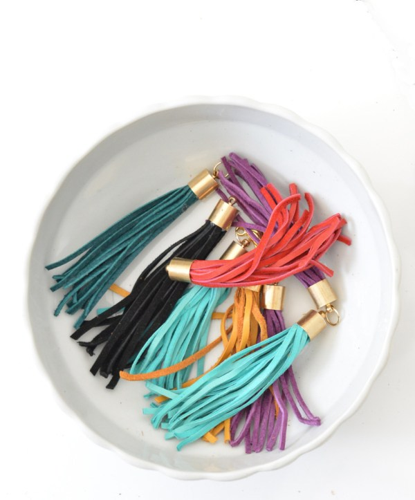 colorful leather tassels