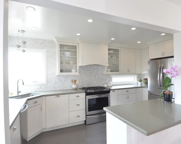 Good I love the sage green quartz countertops Liz fell in love with them at first sight and had to have them The warm hue adds color and still feels organic