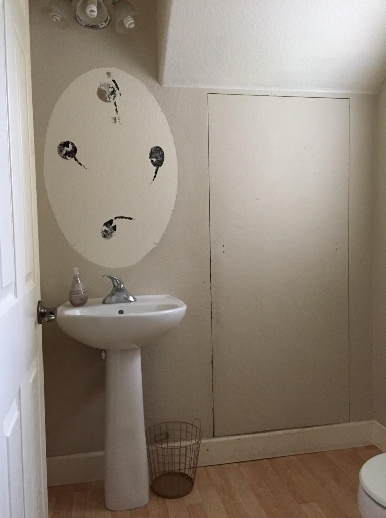 kara bathroom before