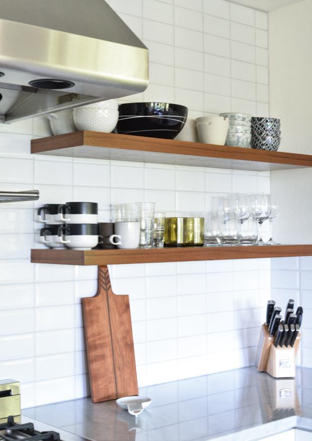 floating wood shelves