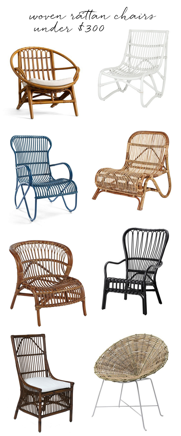 woven chairs under $300