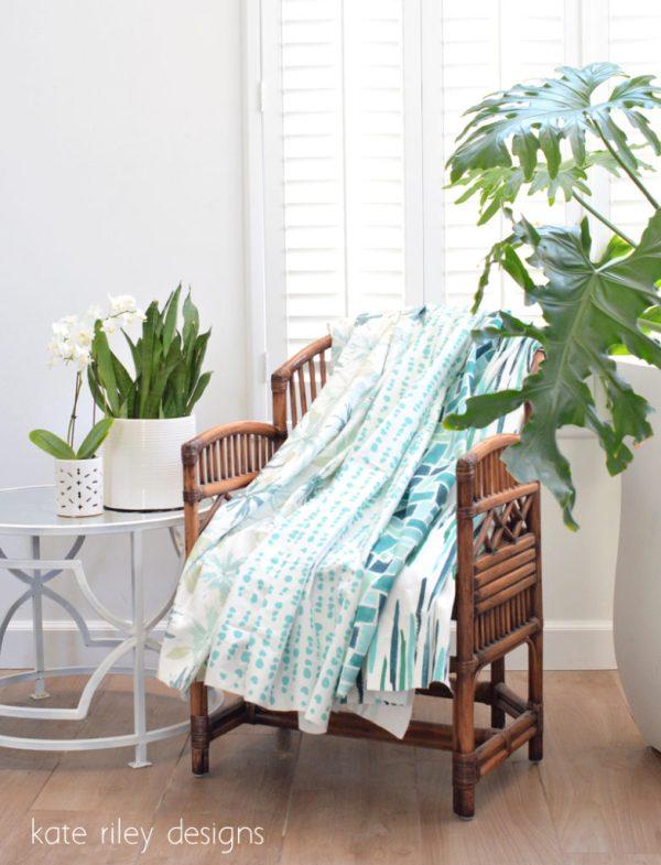 kate riley blue summer fabrics