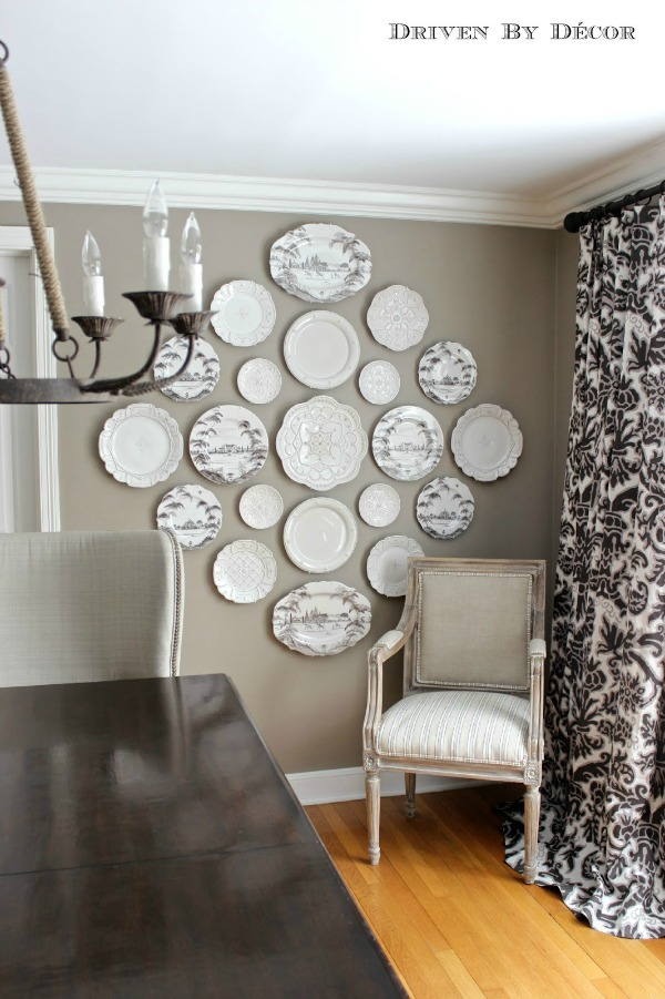 plate wall driven by decor