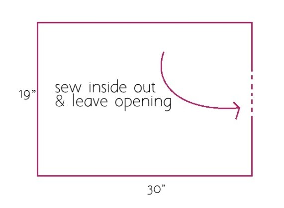sew inside out leave opening