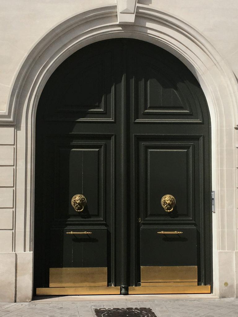 black arched doors paris