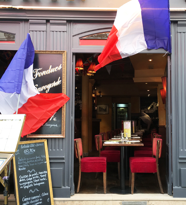 cafe french flag