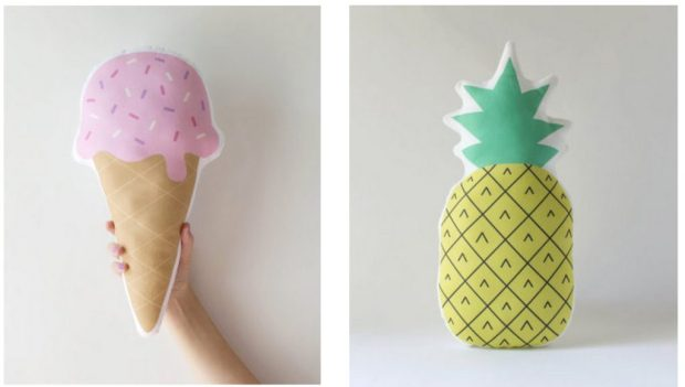 ice cream pineapple pillows