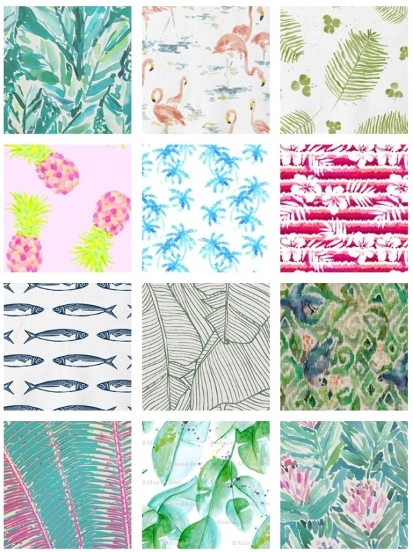 modern tropical fabric