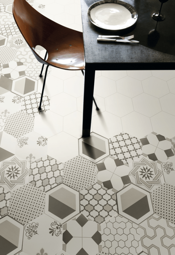 random pattern tile hexagon