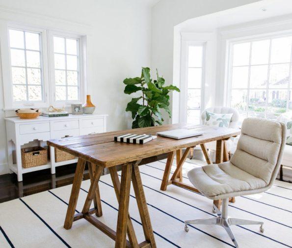 sawhorse wood desk