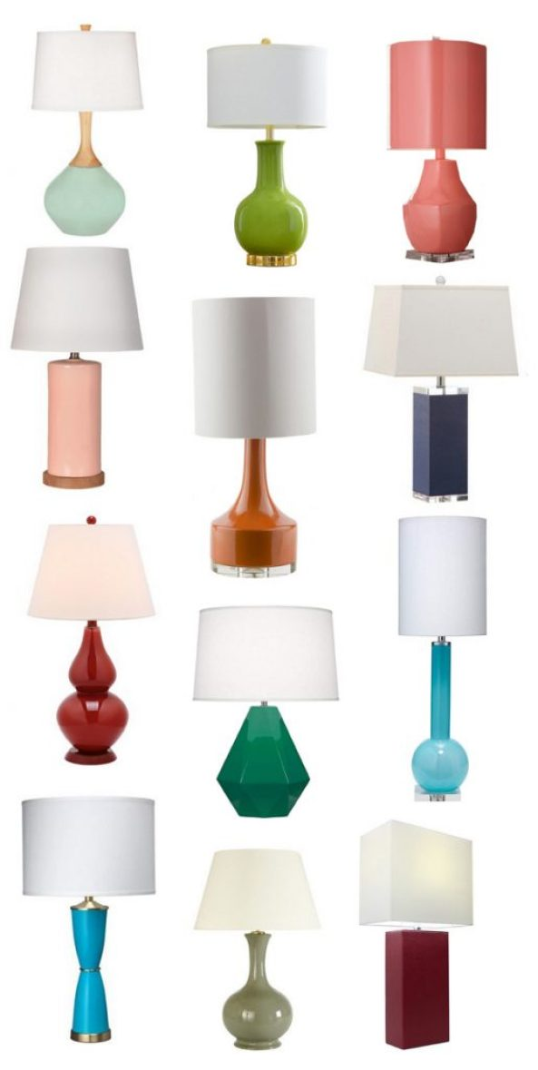 Colorful table lamps centsational style wexler multiple colors montag green multiple colors modern one coral pink column timsbury piper navy safavieh red robert abbey emerald aloadofball Gallery