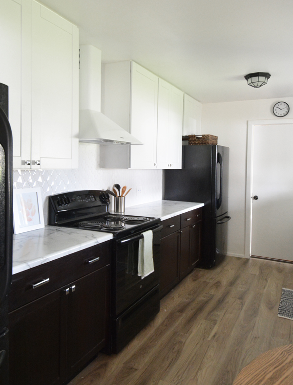 Galley Kitchen Remodel Dark Cabinets galley kitchen remodel | centsational style
