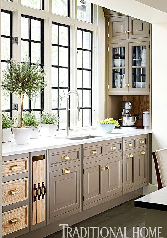 Taupe kitchen cabinets Taupe Painted Tobi Fairley Centsational Style Taupe Kitchen Cabinets Centsational Style